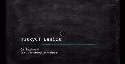HuskyCT Basics